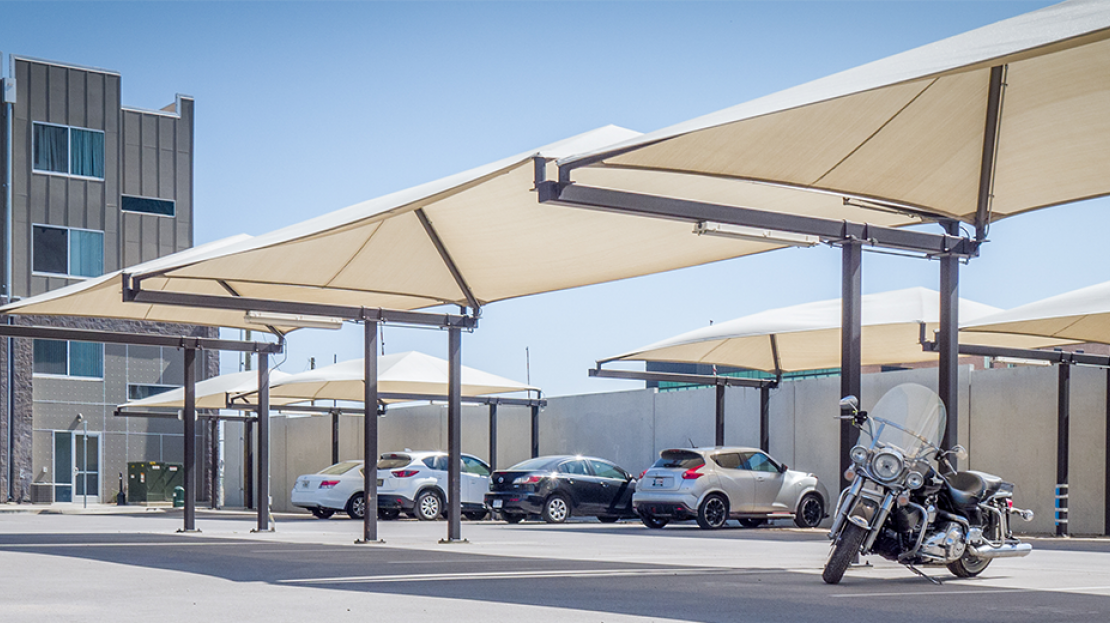 Cantilever Shade for Cars