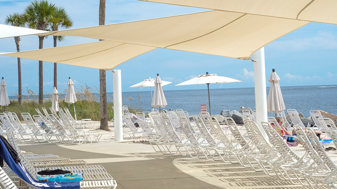 Seabrook Island Beach Club Shade For Guests Products Resort Hotels Sails