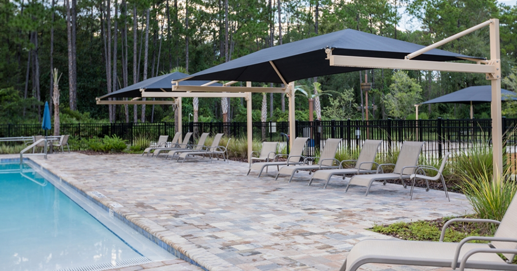 pool cantilever shade