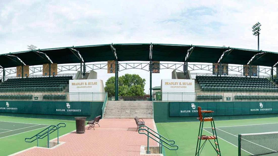 baylor university tennis court shade
